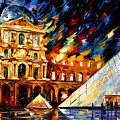 Louvre Museum by Leonid Afremov