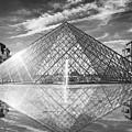 Louvre Pyramid, Paris by Delphimages Photo Creations