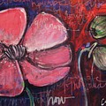 Love And Live With Purpose Poppies by Laurie Maves ART