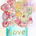 Love And Roses- Art By Linda Woods by Linda Woods
