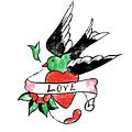 Love Bird Tattoo by Bob Newman