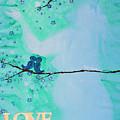 Love Birds In Blue Maternity by April Kasper