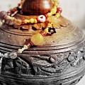 Love Bracelet On Wooden Vase by Samiksa Art