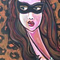 Love For Cat Woman  by Laurie Maves ART