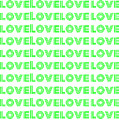 Love In Green Neon by LogCabinCottage