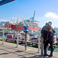 Love In The Port Of Valpaparaiso-chile by Ruth Hager