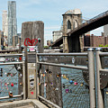 Love Locks In Brooklyn New York by Robert VanDerWal