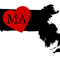 Love Massachusetts Black by Custom Home Fashions