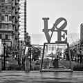 Love On The Parkway In Black And White by Bill Cannon