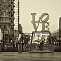 Love On The Parkway In Sepia by Bill Cannon