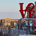 Love Park And The Parkway In Philadelphia by Bill Cannon