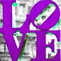 Love Philadelphia Purple Digital Art by Terry DeLuco