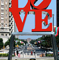 Love Sculpture In Philadelphia by Carl Purcell