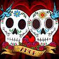 Love Skulls by Tammy Wetzel
