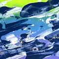 Love Those Diagonals - Purple 2 by Louise Adams