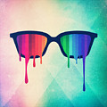 Love Wins Rainbow - Spectrum Pride Hipster Nerd Glasses by Philipp Rietz