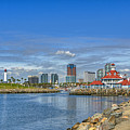 Lovely Day Long Beach by David Zanzinger