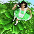 Lovely Irish Girl With A Glass Of Green Beer by Oleksiy Maksymenko