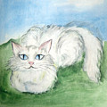 Lovely Kitty. White Cat Kusyaka by Sofia Metal Queen