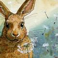 Lovely Rabbits - With Dandelions by Svetlana Ledneva-Schukina
