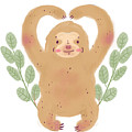 Lovely Sloth Illustration by Angelica H
