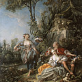 Lovers In A Park by Franois Boucher