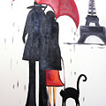 lovers in Paris by Fabjola Bramo