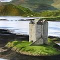 Low Tide At Castle Stalker by Fay Reid