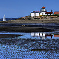 Low Tide At The Lighthouse by David Patterson