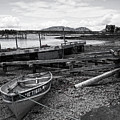 Low Tide, Bass Harbor, Maine  #130161-bw by John Bald