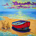 Low Tide - Impressionistic Art, Landscpae Painting by Patricia Awapara