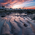 Low Tide Sunset In Northport, New York by Alissa Beth Photography