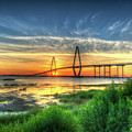 Lowcountry Moon Over Ravenel Bridge by Dale Powell