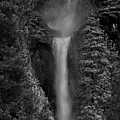 Lower And Middle Yosemite Falls In Black And White by Raymond Salani III