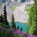 Lower Blue Lake Summer Portrait by Cascade Colors