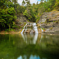 Lower Falls Of Enfield Glen Early Autumn by Karen Jorstad