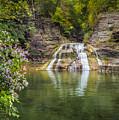 Lower Falls Of Enfield Glen Robert H. Treman State Park by Karen Jorstad
