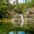 Lower Falls Reflection Of Enfield Glen by Karen Jorstad