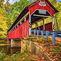 Lower Humbert Covered Bridge 2 - Paint by Steve Harrington