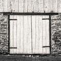 Lower Level Door To An 1803 Amish Corn Barn  -  1803cornbarnblwh172868 by Frank J Benz