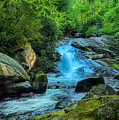 Lower Lynn Camp Falls Smoky Mountains by Martin Belan