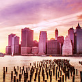 Lower Manhattan And Ferry by Rima Biswas
