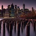 Lower Manhattan At Night by Steve Booke