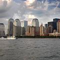 Lower Manhattan From The Hudson by Frank Mari