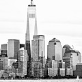 Lower Manhattan In Black And White by Regina Geoghan