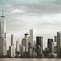 Lower Manhattan Panoramic Skyline by Erin Cadigan