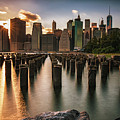 Lower Manhattan Sunset Twinkle by Alissa Beth Photography