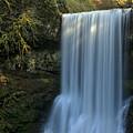 Lower South Falls Closeup by Adam Jewell