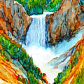 Lower Yellowstone Falls by Diane Bay
