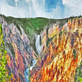 Lower Yellowstone Falls by Digital Photographic Arts